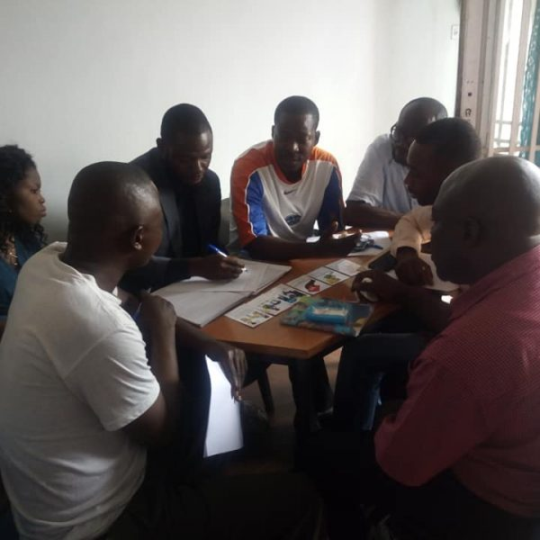 mototaxis training Kinshasa Oct 2019